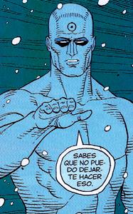 Mr Manhattan del cómic de Alan Moore : Watchmen