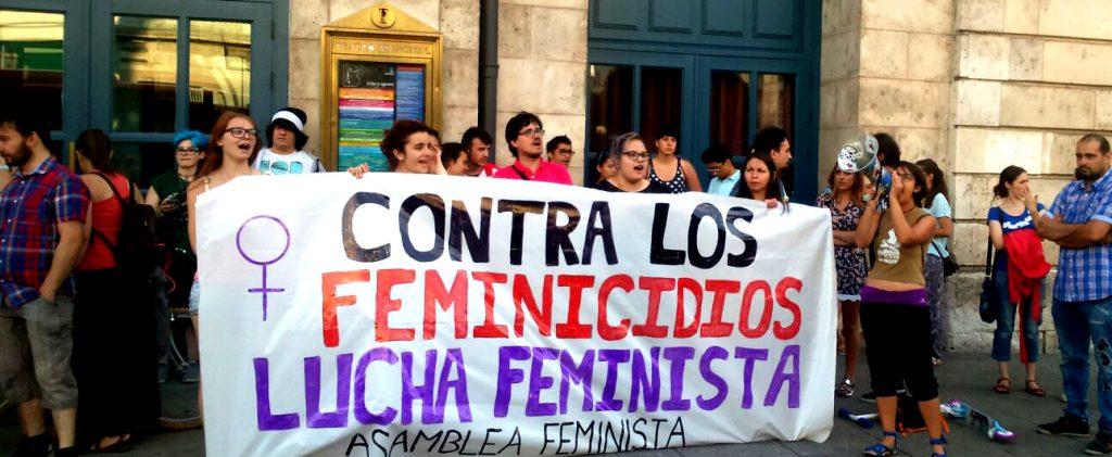 Concentración convocada por la Asamblea Feminista