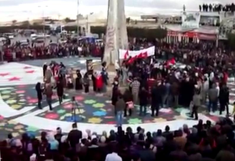 Intervención de Lucha Internacionalista en Regueb el 9 de enero aniversario de los mártires de la revolución.