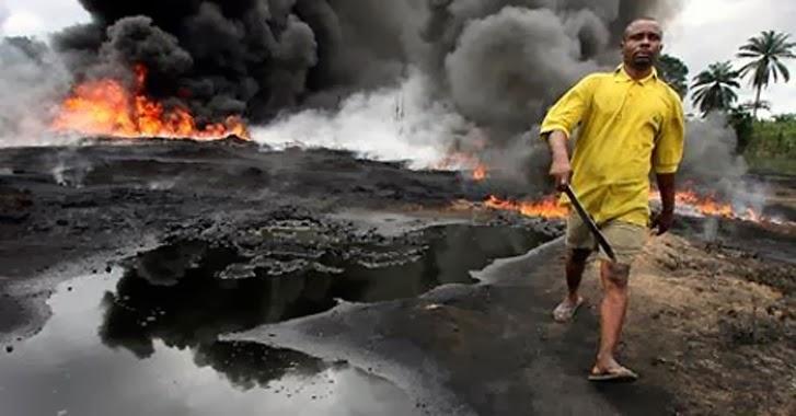 Pozos de petróleo de Shell en Nigeria