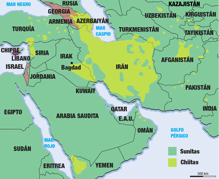 Países Suníes y Chíies