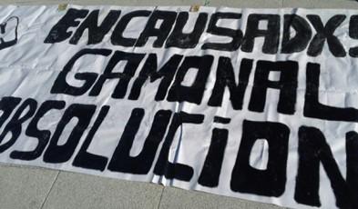 Pancarta en favor de los encausados y encausadas de Gamonal