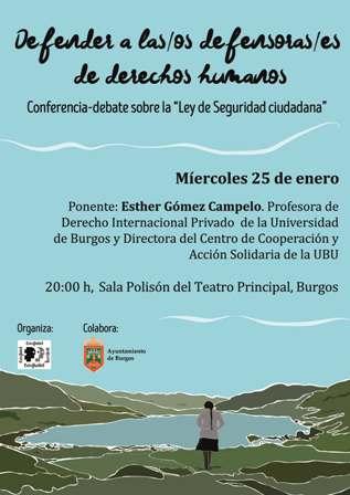 Conferencia-debate sobre la ley de seguridad Ciudadana