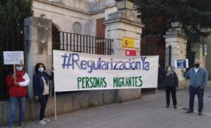 concentración por la regularización de personas migrantes