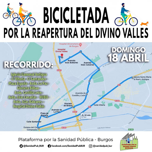 recorrido bicicletada 18 abril